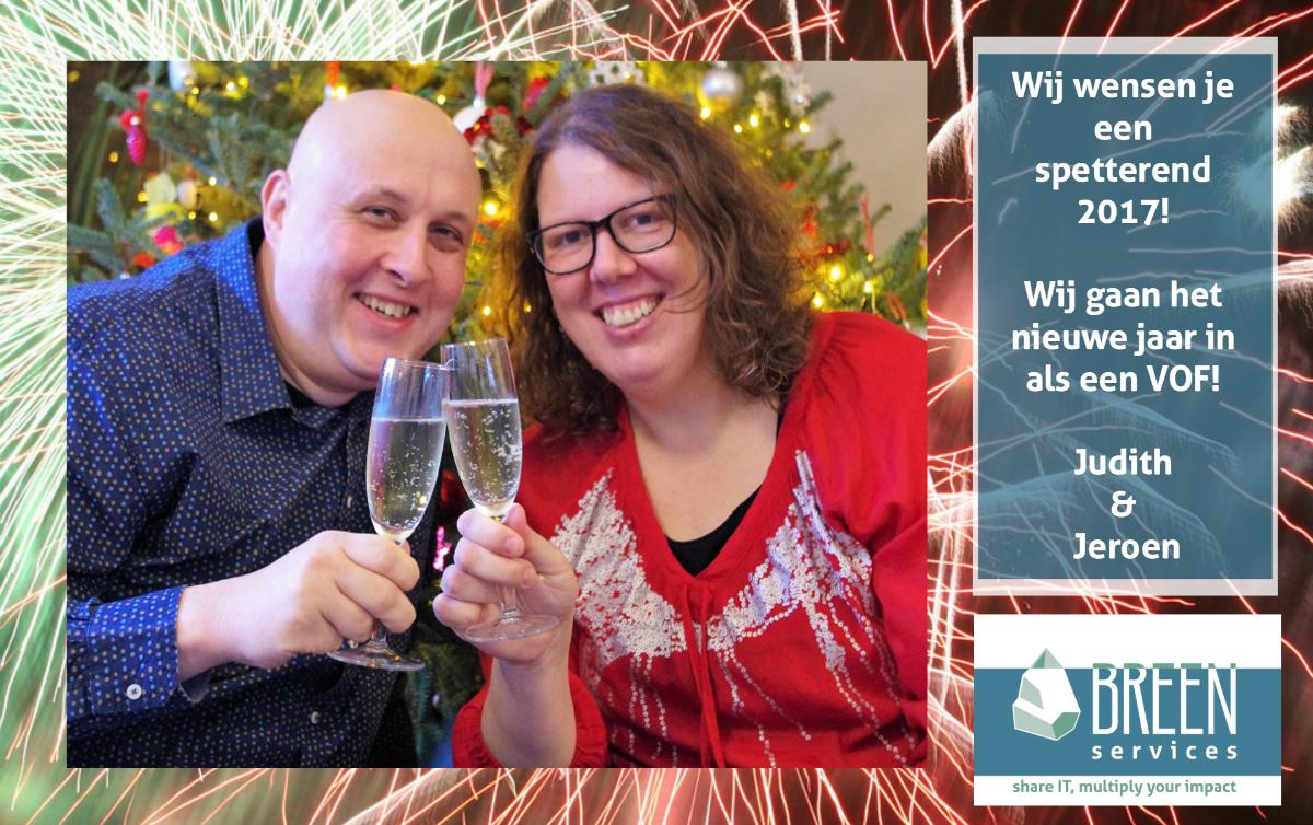 Nieuwjaarsgroet Jeroen en Judith Scholten