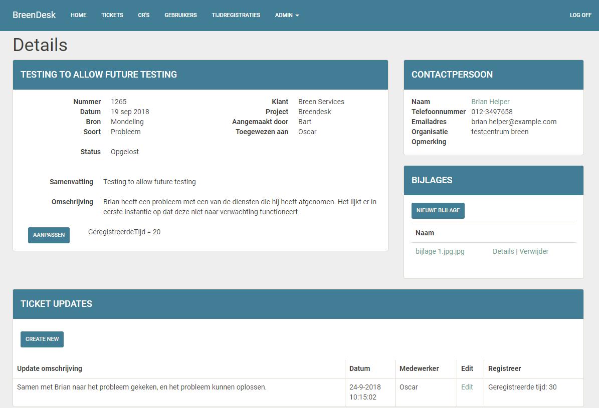 Breendesk screenshot